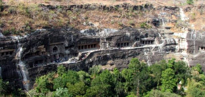 Ajanta Caves Top view