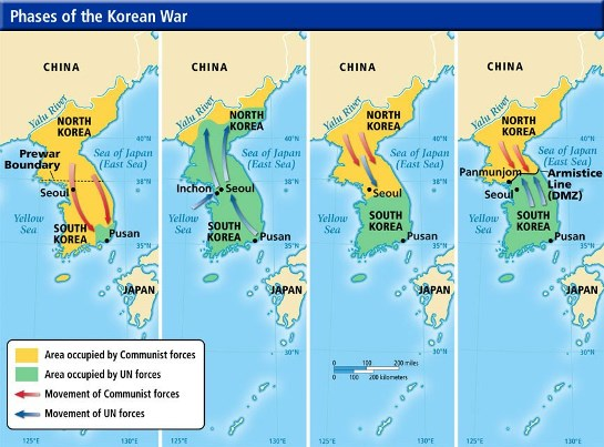 Phases of Korean War
